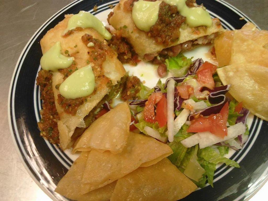 """Photo of Tamales Especiales  by <a href=""""/members/profile/community5"""">community5</a> <br/>Chile Relleno Chimichanga Jackfruit Tacos <br/> May 14, 2017  - <a href='/contact/abuse/image/92098/258788'>Report</a>"""