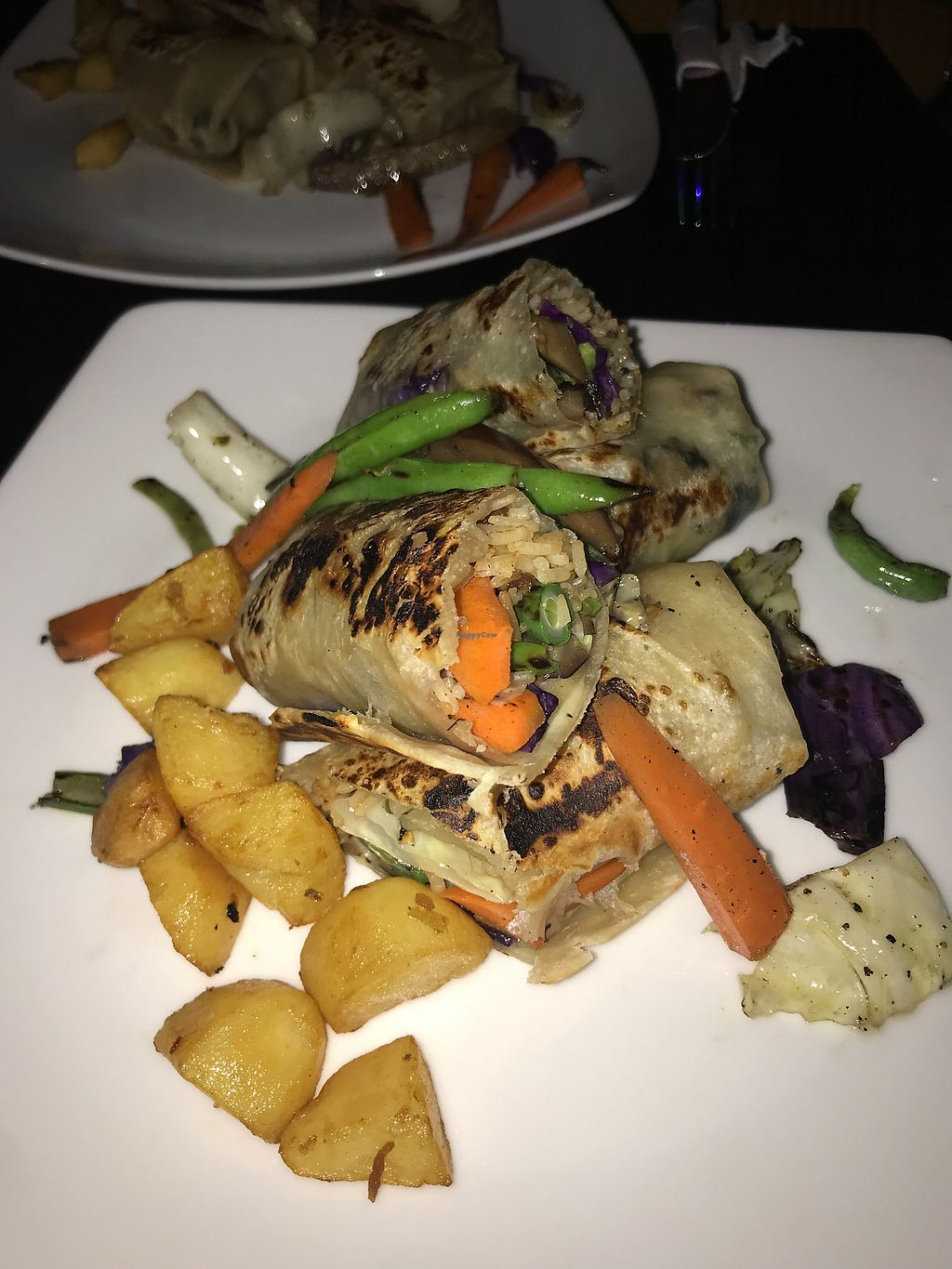 """Photo of Reincarnation - Rainbow Inn  by <a href=""""/members/profile/erinolivia"""">erinolivia</a> <br/>Grilled veggie and rice burrito  <br/> January 11, 2018  - <a href='/contact/abuse/image/92113/345478'>Report</a>"""