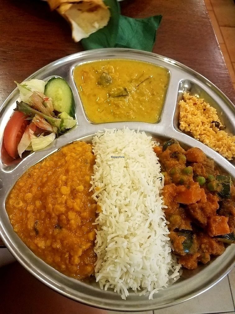 """Photo of Veggie & Vega - Restaurant  by <a href=""""/members/profile/NatalieMayer"""">NatalieMayer</a> <br/>Vegan Thali plate! yum! <br/> August 31, 2017  - <a href='/contact/abuse/image/92126/299307'>Report</a>"""