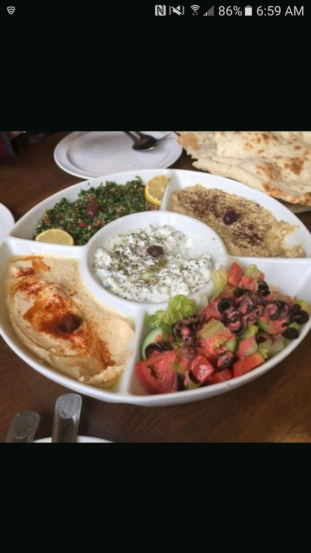 "Photo of Falafel Den  by <a href=""/members/profile/LeanPartian"">LeanPartian</a> <br/>veggie platter <br/> December 9, 2017  - <a href='/contact/abuse/image/92130/333608'>Report</a>"