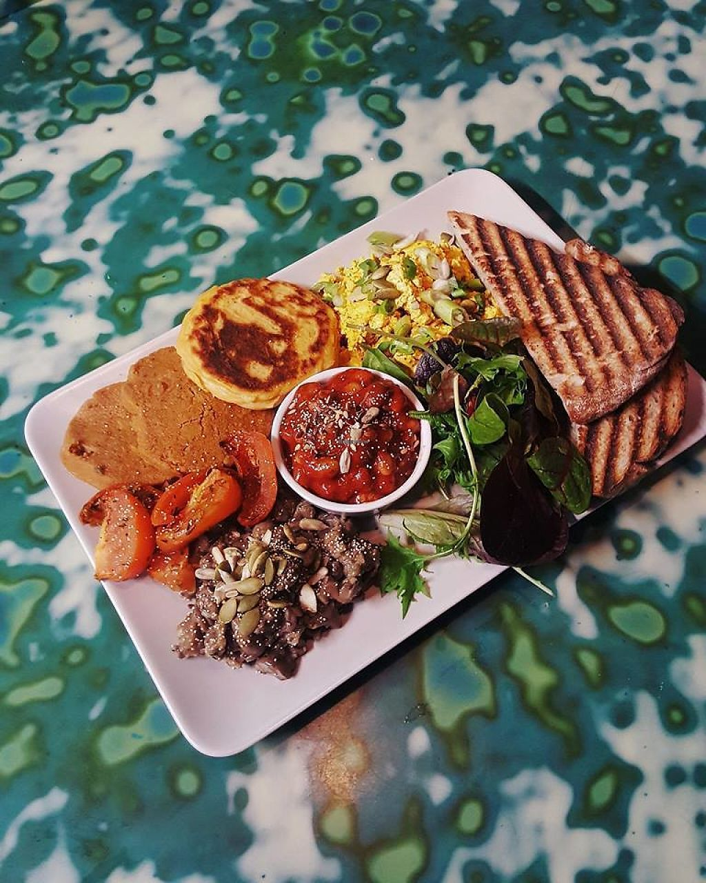 """Photo of Something at The Glad Cafe  by <a href=""""/members/profile/community5"""">community5</a> <br/>Vegan big breakfast <br/> May 15, 2017  - <a href='/contact/abuse/image/92165/259055'>Report</a>"""