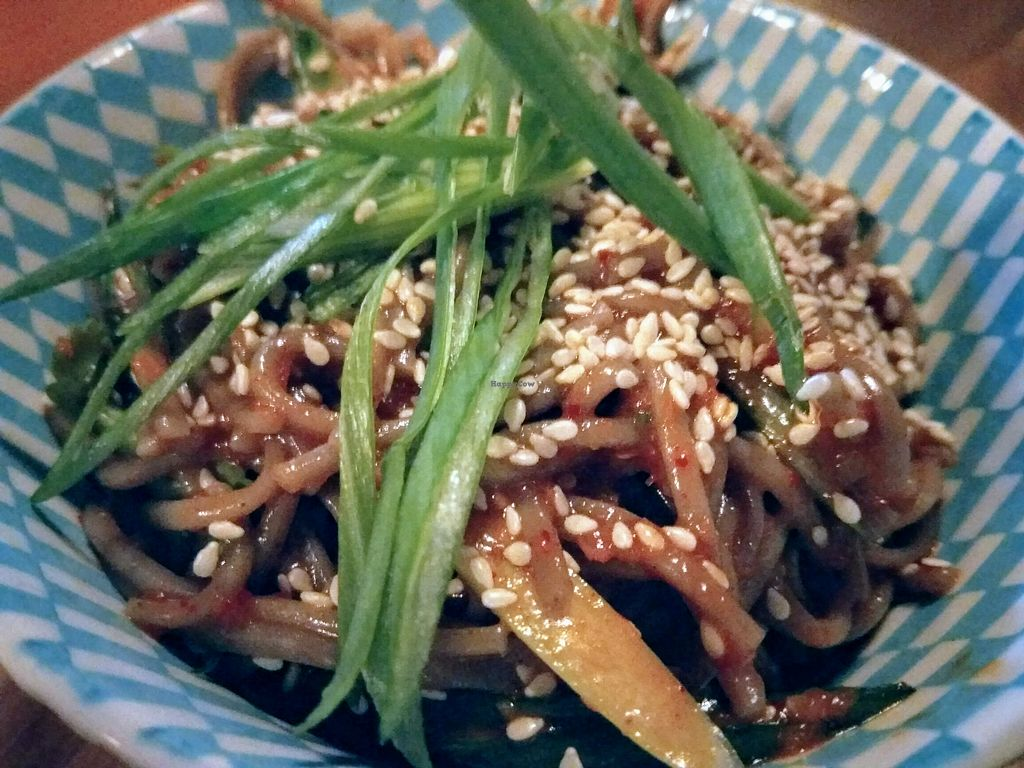 """Photo of Something at The Glad Cafe  by <a href=""""/members/profile/TrixieFirecracker"""">TrixieFirecracker</a> <br/>Soba noodle salad, with gochujang and pear dressing <br/> March 22, 2018  - <a href='/contact/abuse/image/92165/374485'>Report</a>"""