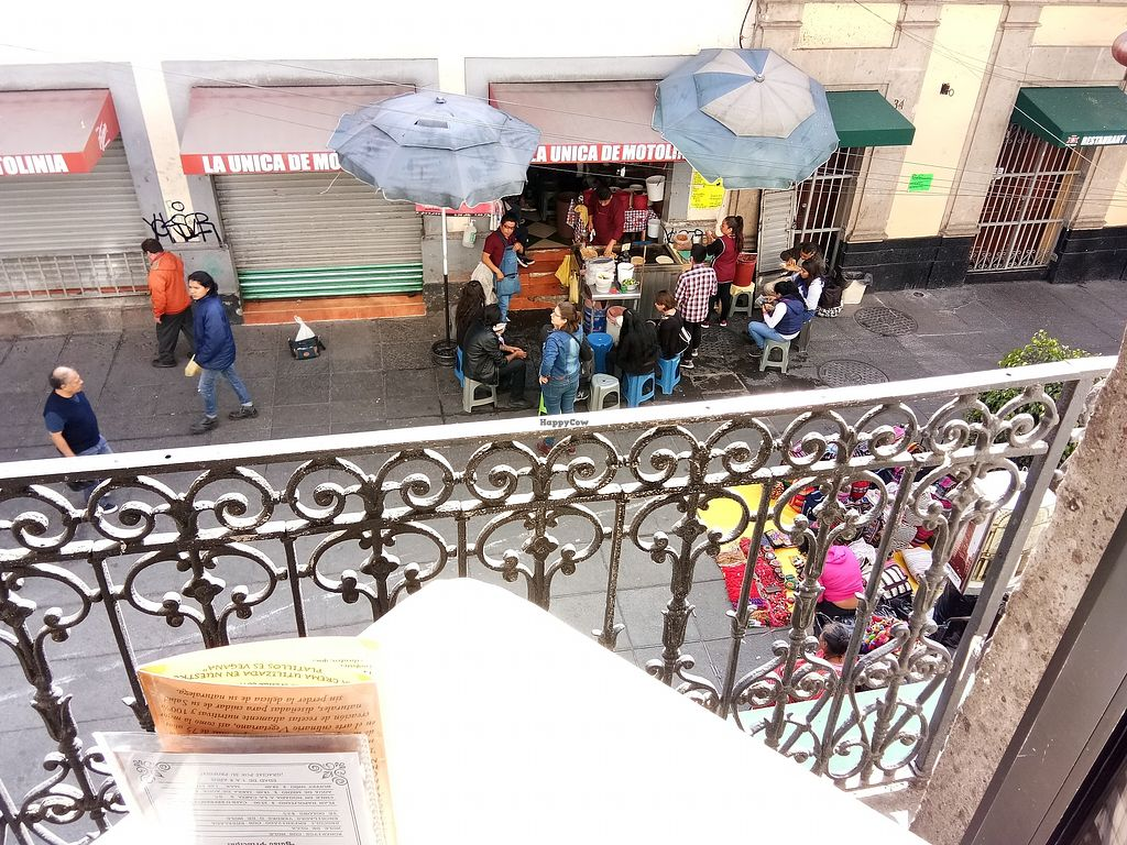 """Photo of CLOSED: Restaurante Vegetariano - Centro Historical  by <a href=""""/members/profile/KevinMizen"""">KevinMizen</a> <br/>View from the balcony <br/> November 12, 2017  - <a href='/contact/abuse/image/9216/324715'>Report</a>"""