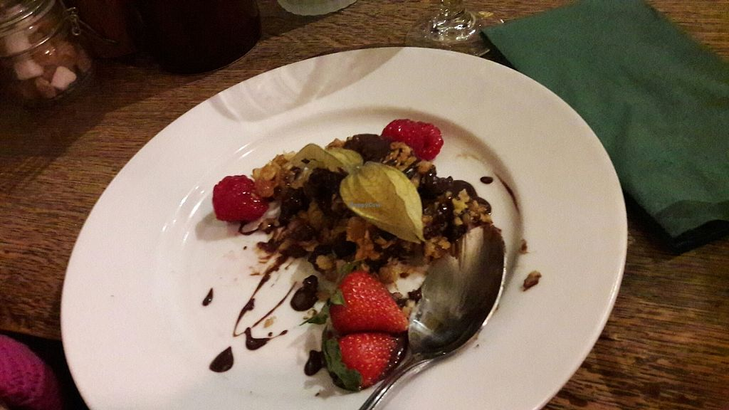 """Photo of The Polgooth Inn  by <a href=""""/members/profile/JessP"""">JessP</a> <br/>vegan fruit&nut flapjack  <br/> July 20, 2017  - <a href='/contact/abuse/image/92174/282538'>Report</a>"""