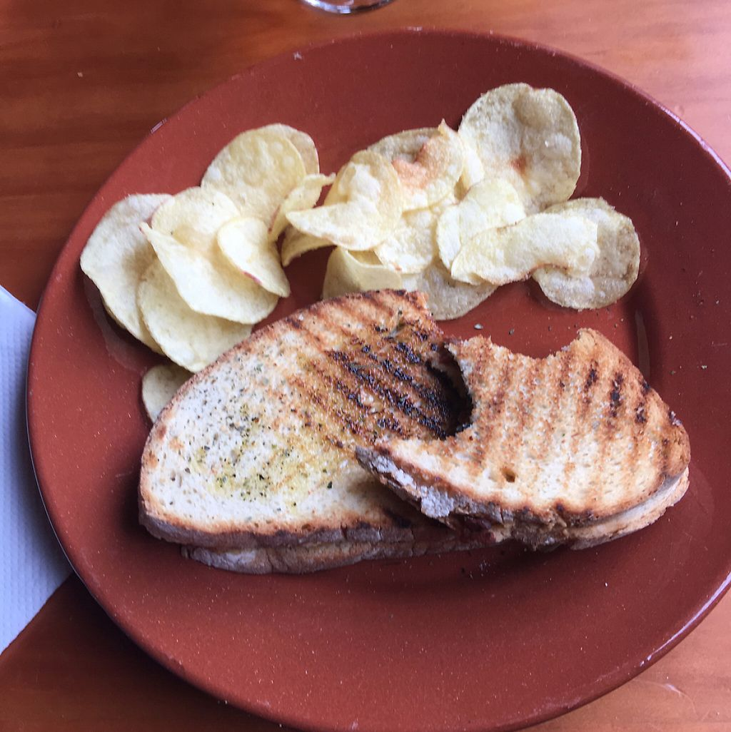 """Photo of Pub Medieval Casa do Fauno  by <a href=""""/members/profile/FranceskaLynne"""">FranceskaLynne</a> <br/>The vegan """"tosta"""" - black olives, pimientos, and peanut butter - sounds crazy, but incredibly delicious!! <br/> June 3, 2017  - <a href='/contact/abuse/image/92212/265500'>Report</a>"""
