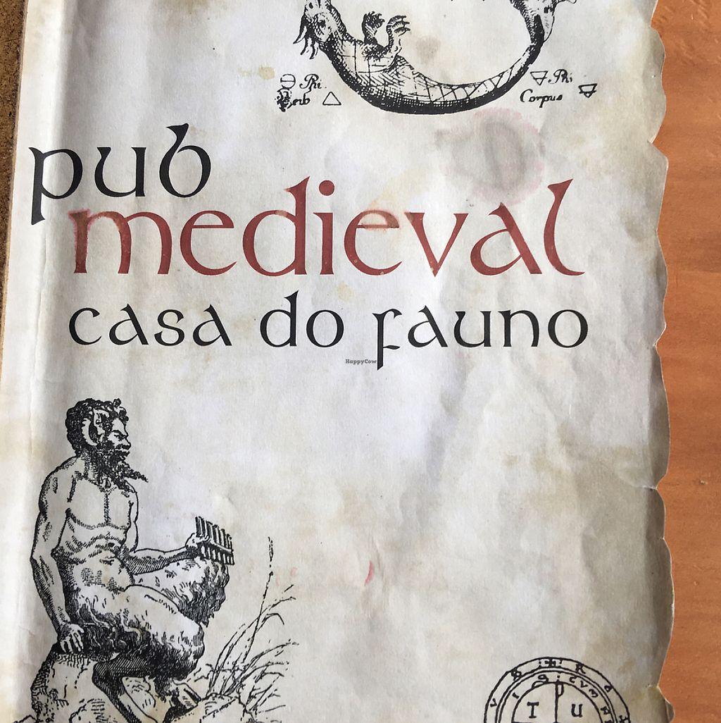 "Photo of Pub Medieval Casa do Fauno  by <a href=""/members/profile/FranceskaLynne"">FranceskaLynne</a> <br/>The menu  <br/> June 3, 2017  - <a href='/contact/abuse/image/92212/265501'>Report</a>"