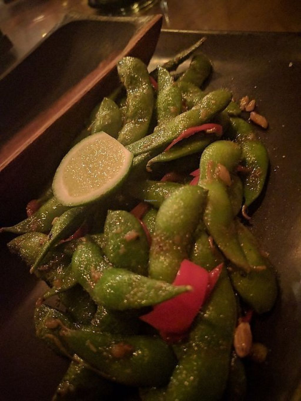 """Photo of Kismet Restaurant & Lounge  by <a href=""""/members/profile/wildeyedgirl"""">wildeyedgirl</a> <br/>Garlic, chilli, lime edamame cooked with coconut oil - amazing! <br/> May 16, 2017  - <a href='/contact/abuse/image/92216/259215'>Report</a>"""