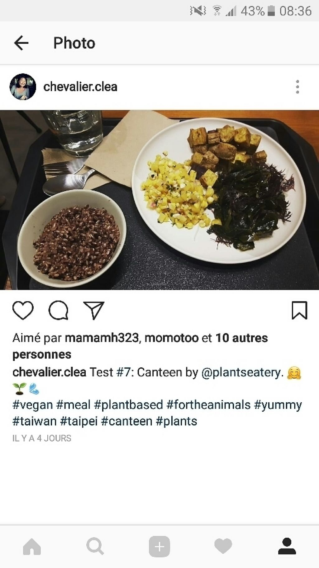 "Photo of Canteen by Plants  by <a href=""/members/profile/Cl%C3%A9aChevalier"">CléaChevalier</a> <br/>mixed seaweed, corn and pineapple salad, sweet potatoes and rice <br/> May 19, 2017  - <a href='/contact/abuse/image/92221/260124'>Report</a>"