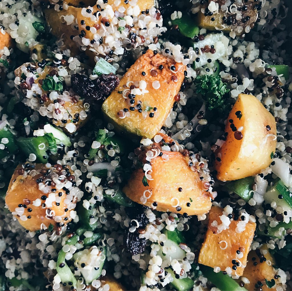 "Photo of Canteen by Plants  by <a href=""/members/profile/plantbased_glutard"">plantbased_glutard</a> <br/>Moroccan Quinoa Salad <br/> October 22, 2017  - <a href='/contact/abuse/image/92221/317627'>Report</a>"