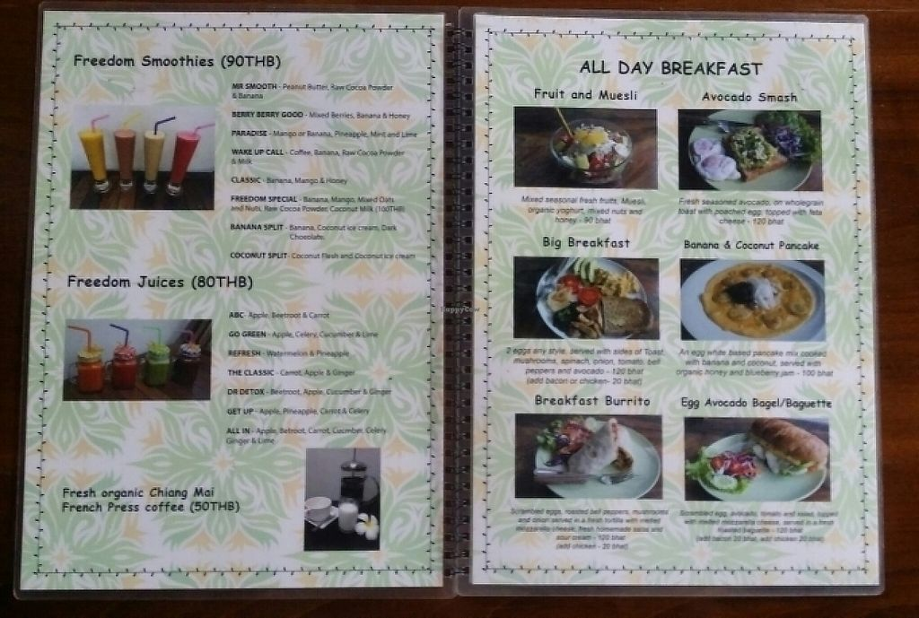 "Photo of Freedom Healthy Cafe and Juice Bar  by <a href=""/members/profile/Mike%20Munsie"">Mike Munsie</a> <br/>menu 2 <br/> May 30, 2017  - <a href='/contact/abuse/image/92248/264097'>Report</a>"