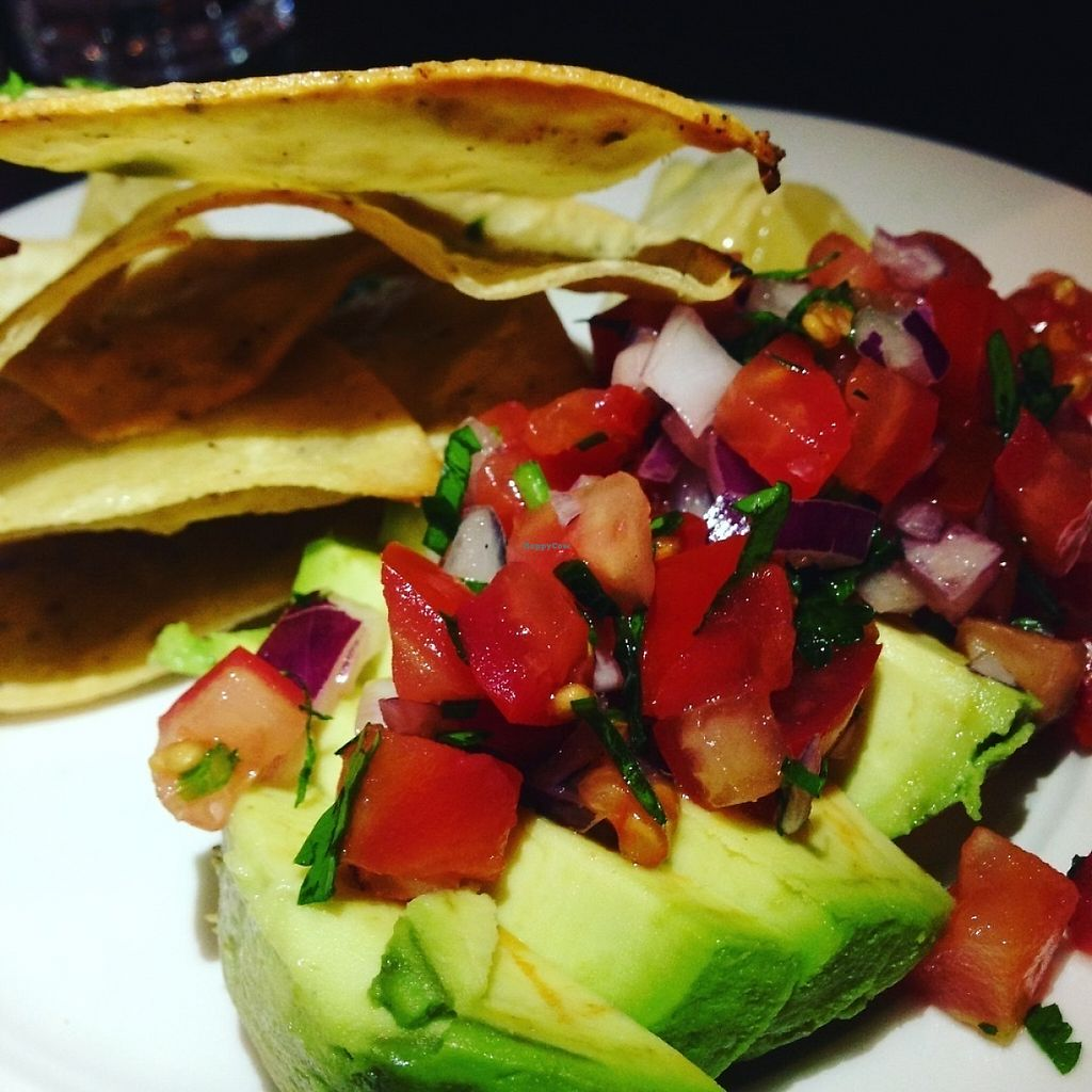 """Photo of Liberty Grill  by <a href=""""/members/profile/Tamasin"""">Tamasin</a> <br/>Starter - Avocado with home made tortilla chips and salsa ?? <br/> May 18, 2017  - <a href='/contact/abuse/image/92266/260090'>Report</a>"""