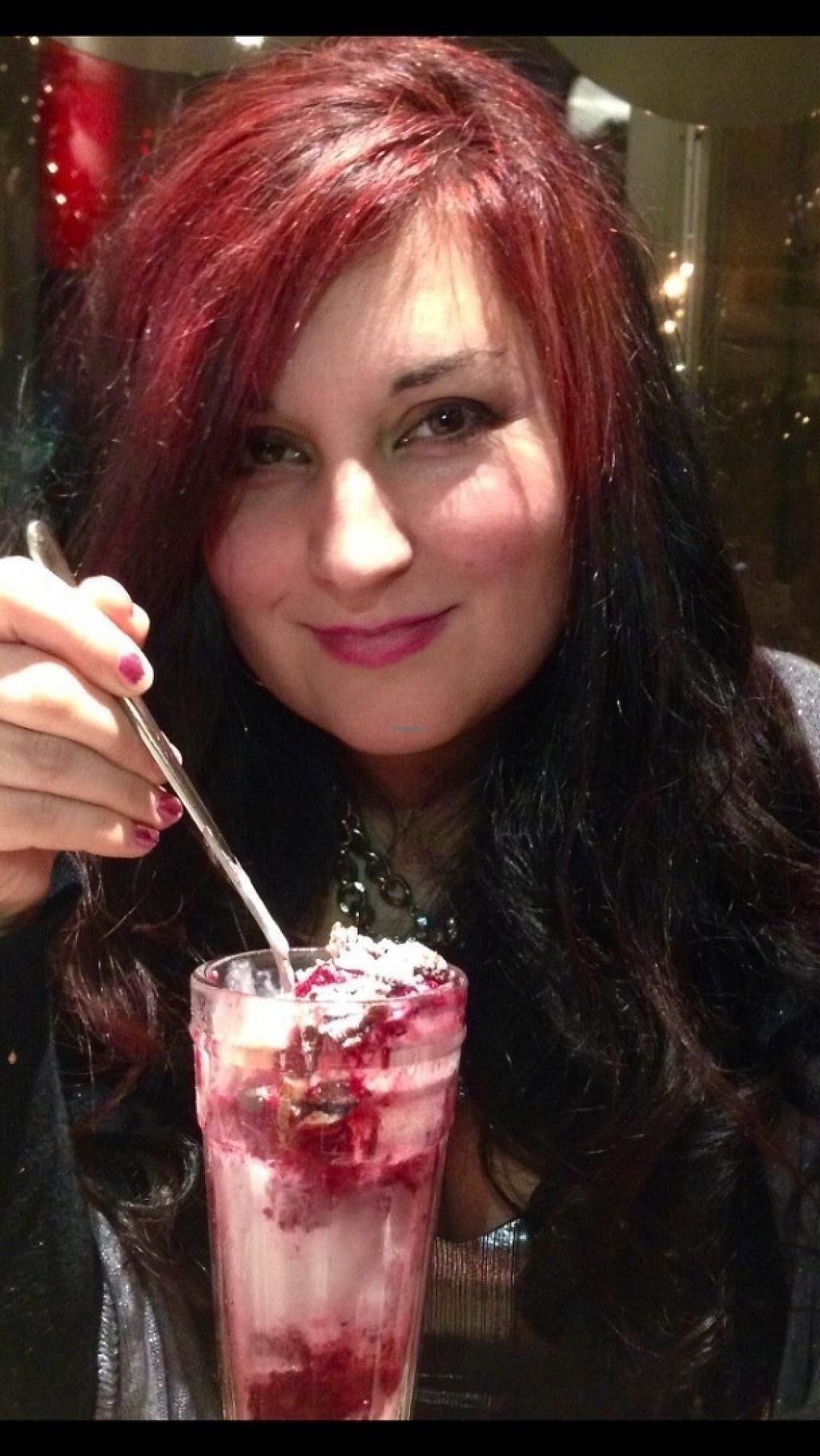 """Photo of Liberty Grill  by <a href=""""/members/profile/Tamasin"""">Tamasin</a> <br/>Enjoying that lovely vegan ice cream option <br/> May 18, 2017  - <a href='/contact/abuse/image/92266/260091'>Report</a>"""