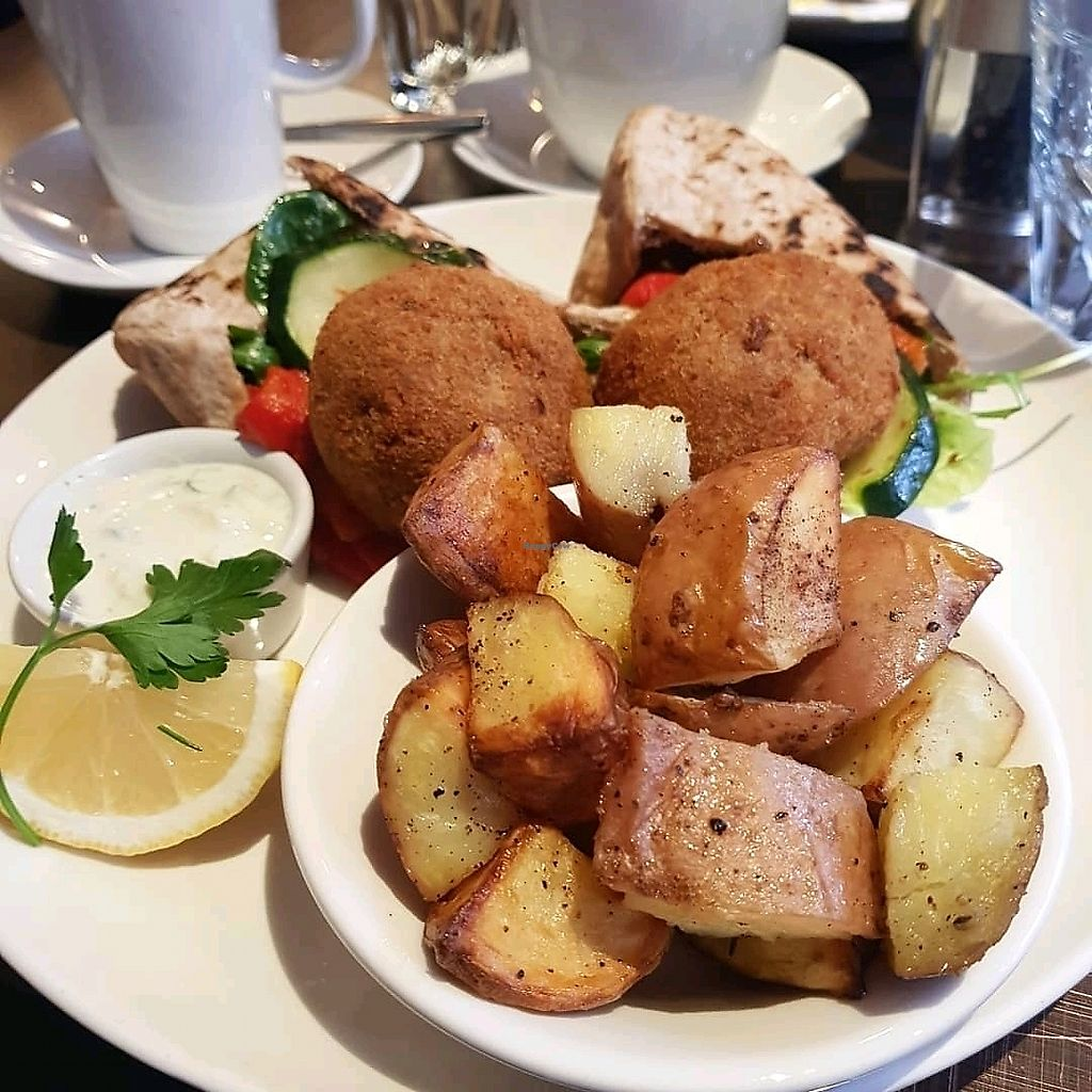 """Photo of Liberty Grill  by <a href=""""/members/profile/SophieDukelow"""">SophieDukelow</a> <br/>Falafel burger  <br/> April 16, 2018  - <a href='/contact/abuse/image/92266/386824'>Report</a>"""
