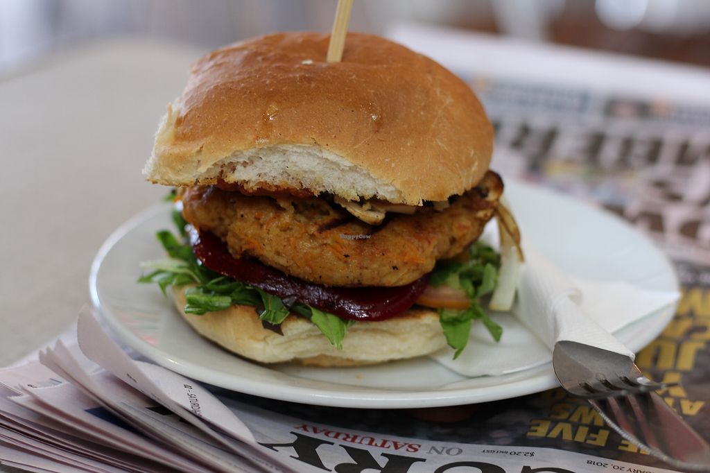 """Photo of DS Coffee House and Internet Cafe  by <a href=""""/members/profile/EbonyJade"""">EbonyJade</a> <br/>Vegan Burger <br/> January 29, 2018  - <a href='/contact/abuse/image/92275/352167'>Report</a>"""
