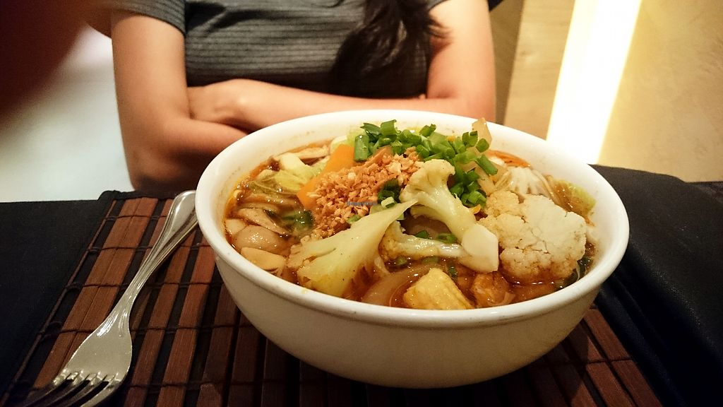 """Photo of Noodles - Cinnamon Grand Hotel  by <a href=""""/members/profile/Chalice777"""">Chalice777</a> <br/>Vegan ramen! <br/> October 18, 2017  - <a href='/contact/abuse/image/92329/316238'>Report</a>"""