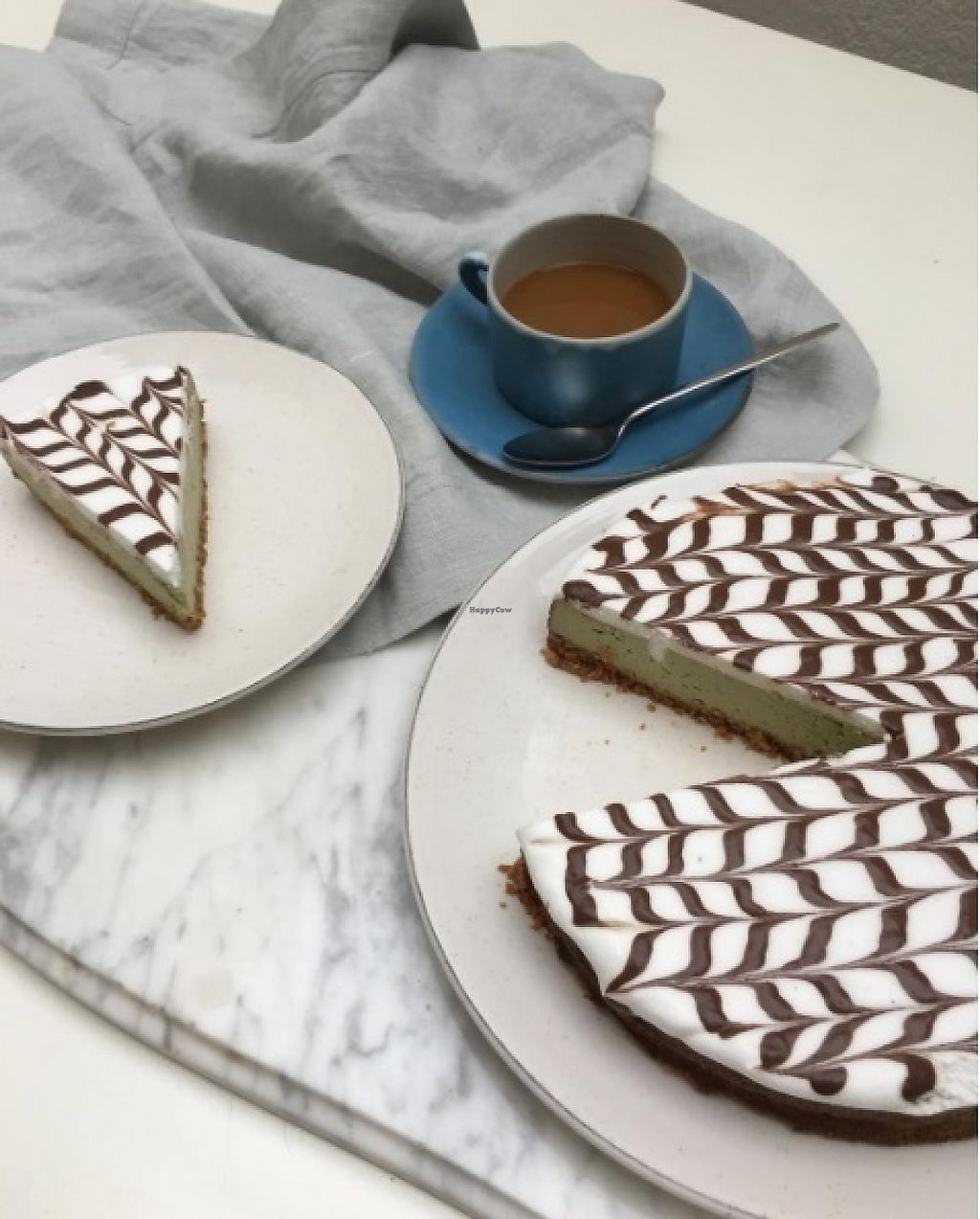 """Photo of Strata Bakery  by <a href=""""/members/profile/LluviCaron"""">LluviCaron</a> <br/>Matcha vegan cheescake <br/> May 18, 2017  - <a href='/contact/abuse/image/92336/259736'>Report</a>"""