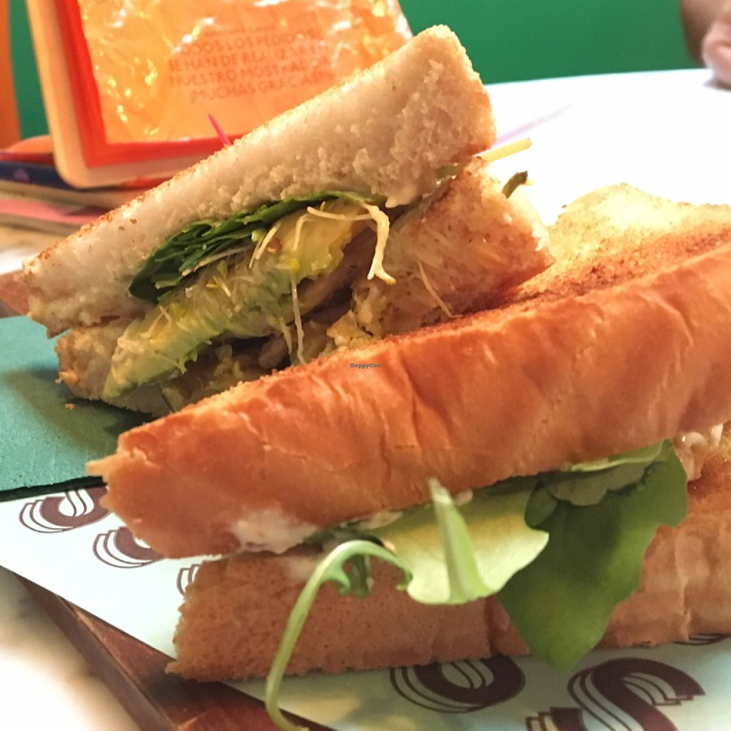 """Photo of Strata Bakery  by <a href=""""/members/profile/VeganMandarina"""">VeganMandarina</a> <br/>Heura Sandwich <br/> May 31, 2017  - <a href='/contact/abuse/image/92336/264547'>Report</a>"""