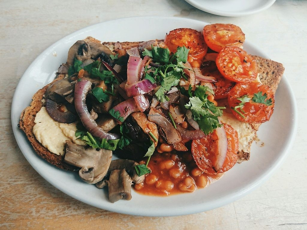 """Photo of The Greenhouse Cafe  by <a href=""""/members/profile/GemmaHayley"""">GemmaHayley</a> <br/>Vegan big breakfast, so delicious!  <br/> September 21, 2017  - <a href='/contact/abuse/image/92338/306825'>Report</a>"""