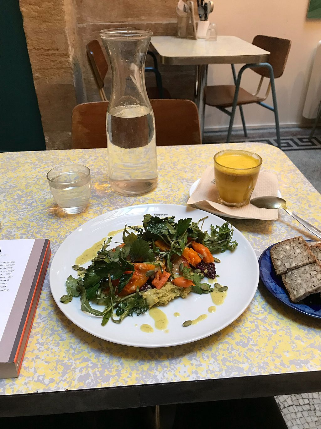 """Photo of Banana Cafe  by <a href=""""/members/profile/ChiaraEndrulat"""">ChiaraEndrulat</a> <br/>Tumeric Latte and vegan lunch option  <br/> February 4, 2018  - <a href='/contact/abuse/image/92340/355042'>Report</a>"""