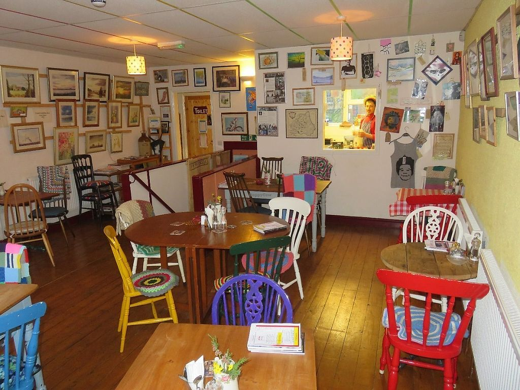 """Photo of Peppers   by <a href=""""/members/profile/Peppers-Cafe"""">Peppers-Cafe</a> <br/>Seating upstairs with artwork <br/> May 29, 2017  - <a href='/contact/abuse/image/92362/263807'>Report</a>"""