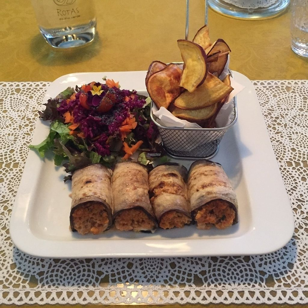 """Photo of Rotas da Ilha Verde  by <a href=""""/members/profile/StevieSurf"""">StevieSurf</a> <br/>Main - aubergine and soya with cashew cheese <br/> April 17, 2017  - <a href='/contact/abuse/image/9237/249359'>Report</a>"""