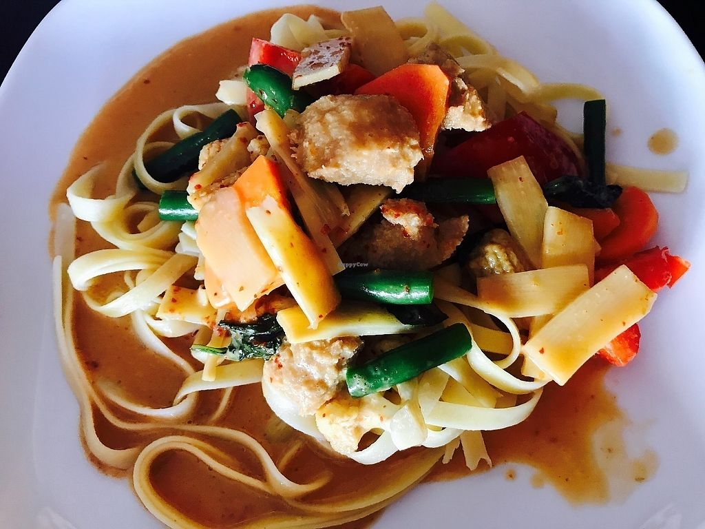 "Photo of PingAn Veggie Time  by <a href=""/members/profile/NirvanaRoseWilliams"">NirvanaRoseWilliams</a> <br/>Massaman curry with fettuccine  <br/> June 10, 2017  - <a href='/contact/abuse/image/92387/267629'>Report</a>"