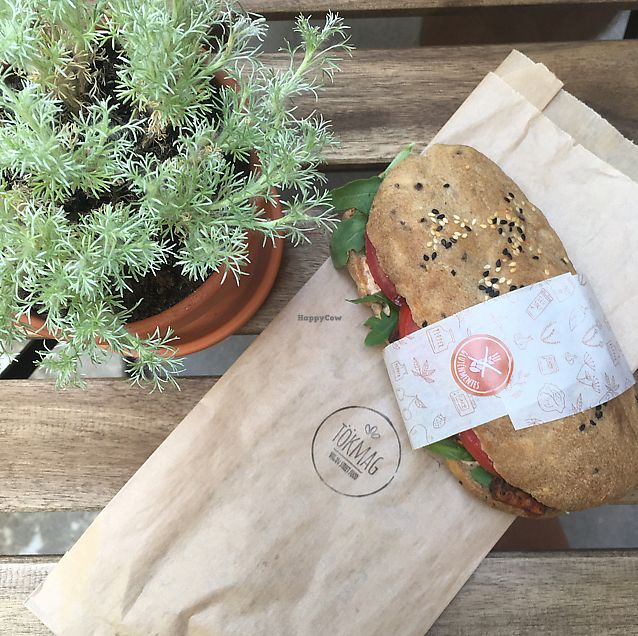 "Photo of Tökmag Vegan Street Food  by <a href=""/members/profile/GabriellaBalask%C3%B3"">GabriellaBalaskó</a> <br/>Tofu sandwich  <br/> June 14, 2017  - <a href='/contact/abuse/image/92391/269116'>Report</a>"