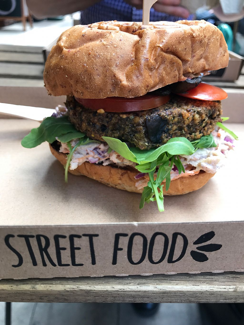 "Photo of Tökmag Vegan Street Food  by <a href=""/members/profile/lou.russ"">lou.russ</a> <br/>mushroom burger. amazing! <br/> July 3, 2017  - <a href='/contact/abuse/image/92391/276358'>Report</a>"