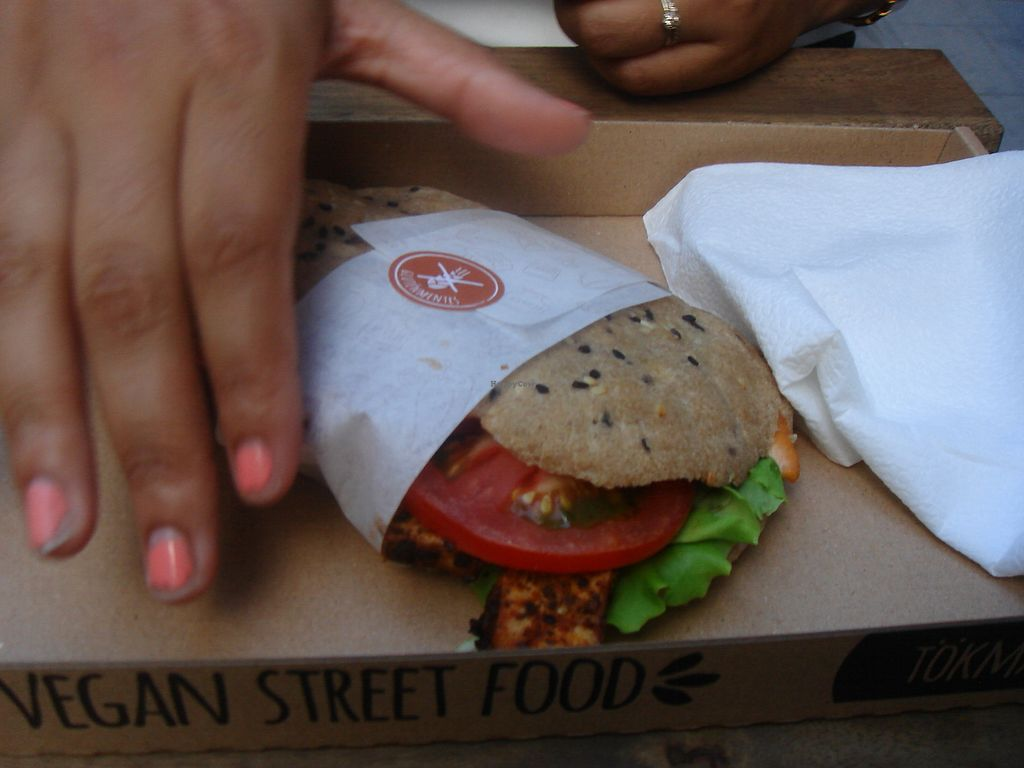 "Photo of Tökmag Vegan Street Food  by <a href=""/members/profile/nafanc"">nafanc</a> <br/>Grab and go tofu sandwich <br/> July 8, 2017  - <a href='/contact/abuse/image/92391/277804'>Report</a>"