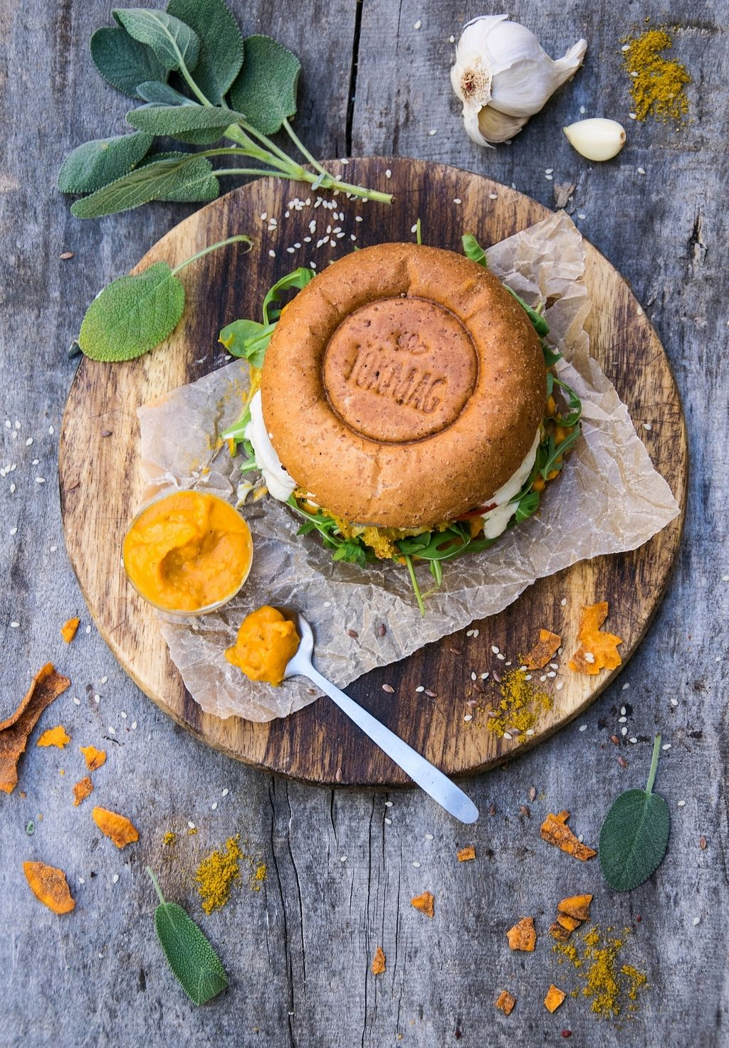 "Photo of Tökmag Vegan Street Food  by <a href=""/members/profile/T%C3%ADmeaMagyar"">TímeaMagyar</a> <br/>Seasonal burger <br/> October 22, 2017  - <a href='/contact/abuse/image/92391/317742'>Report</a>"