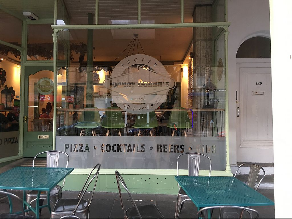 """Photo of Johnny Dough's Wood-Fired Pizza  by <a href=""""/members/profile/Stuffprinter"""">Stuffprinter</a> <br/>from outside <br/> June 11, 2017  - <a href='/contact/abuse/image/92411/268169'>Report</a>"""