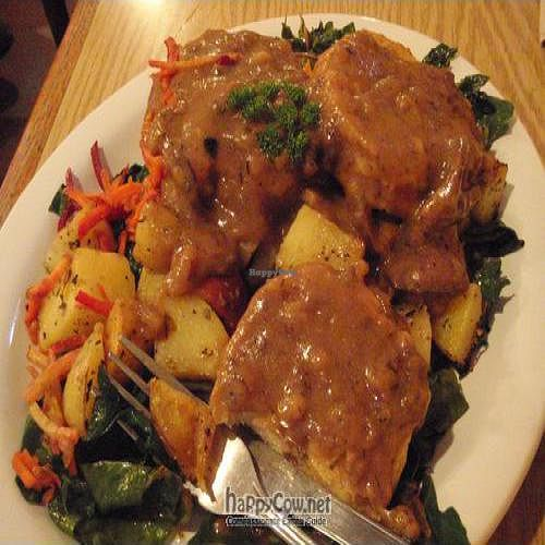 "Photo of CLOSED: Proper Eats Market and Cafe  by <a href=""/members/profile/kimward8"">kimward8</a> <br/>Vegan biscuits and gravy <br/> July 13, 2011  - <a href='/contact/abuse/image/9241/9648'>Report</a>"