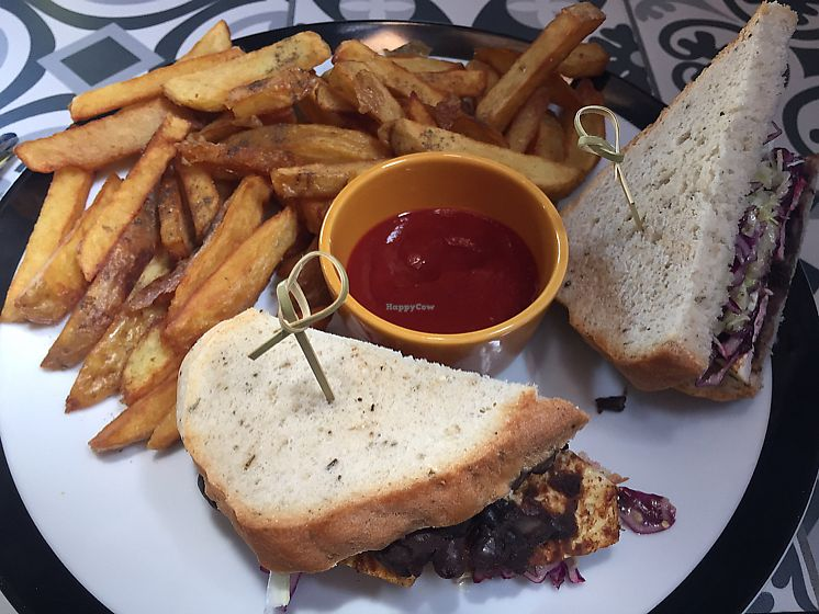 """Photo of Sun Dog Diner  by <a href=""""/members/profile/nicole_m"""">nicole_m</a> <br/>Tofu sandwich and fries <br/> June 14, 2017  - <a href='/contact/abuse/image/92440/268911'>Report</a>"""