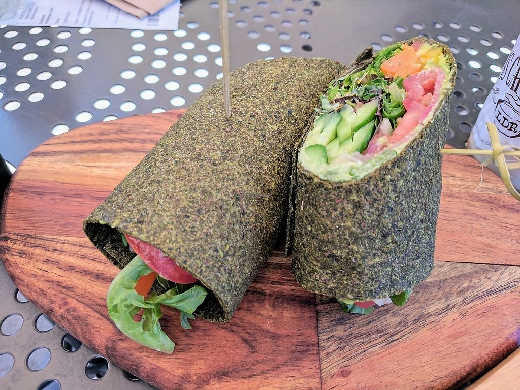 """Photo of Lola's Cafe  by <a href=""""/members/profile/Bgilly"""">Bgilly</a> <br/>Raw vegan wrap <br/> May 19, 2017  - <a href='/contact/abuse/image/92451/260383'>Report</a>"""
