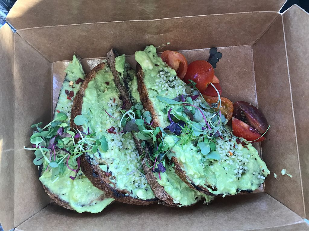 """Photo of Lola's Cafe  by <a href=""""/members/profile/Bex2017"""">Bex2017</a> <br/>Avocado Toast Togo :)  <br/> October 23, 2017  - <a href='/contact/abuse/image/92451/318009'>Report</a>"""