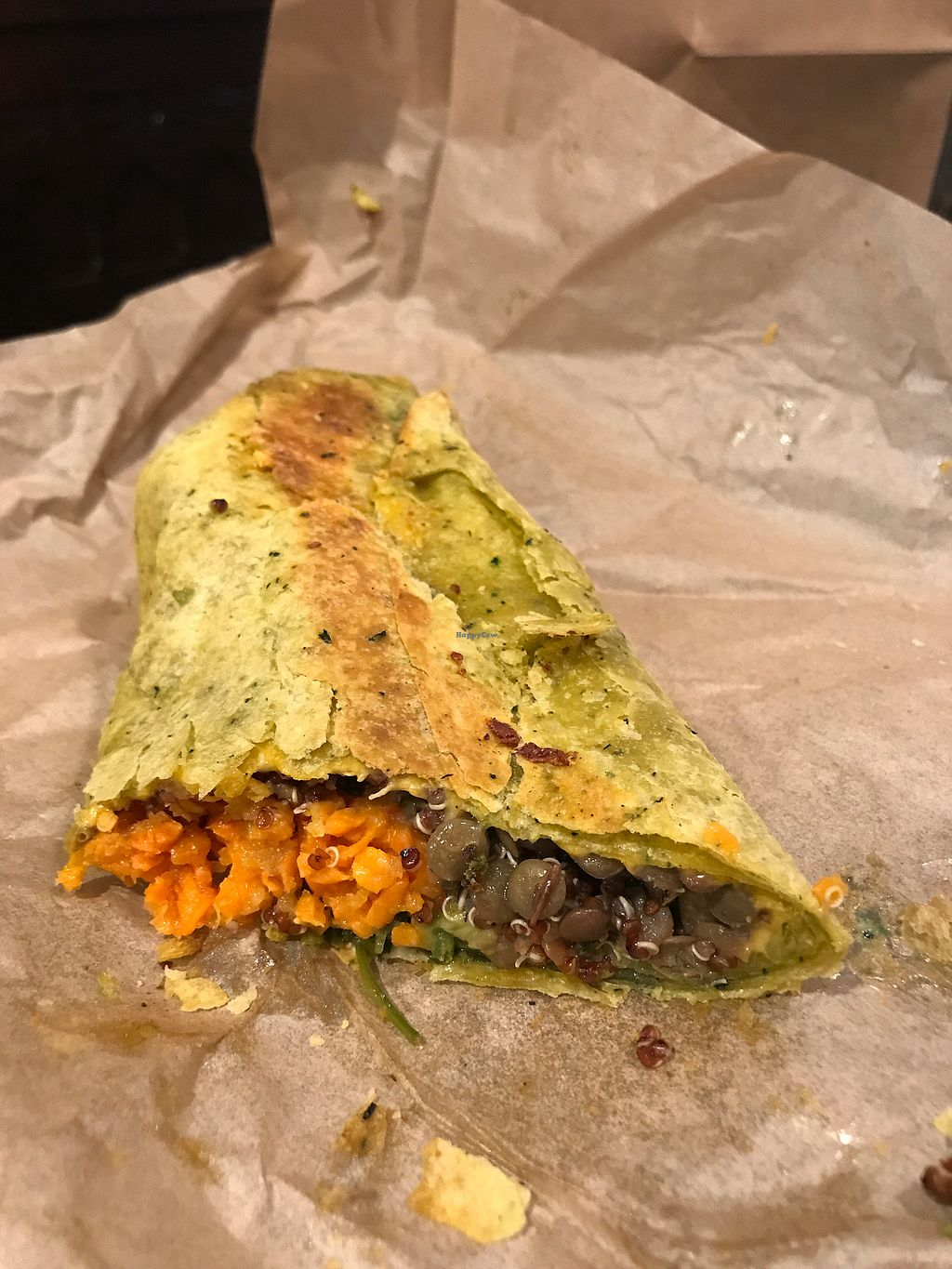 """Photo of Lola's Cafe  by <a href=""""/members/profile/Bex2017"""">Bex2017</a> <br/>Vegan Breakfast Burrito Togo - Yum!!  <br/> October 23, 2017  - <a href='/contact/abuse/image/92451/318010'>Report</a>"""