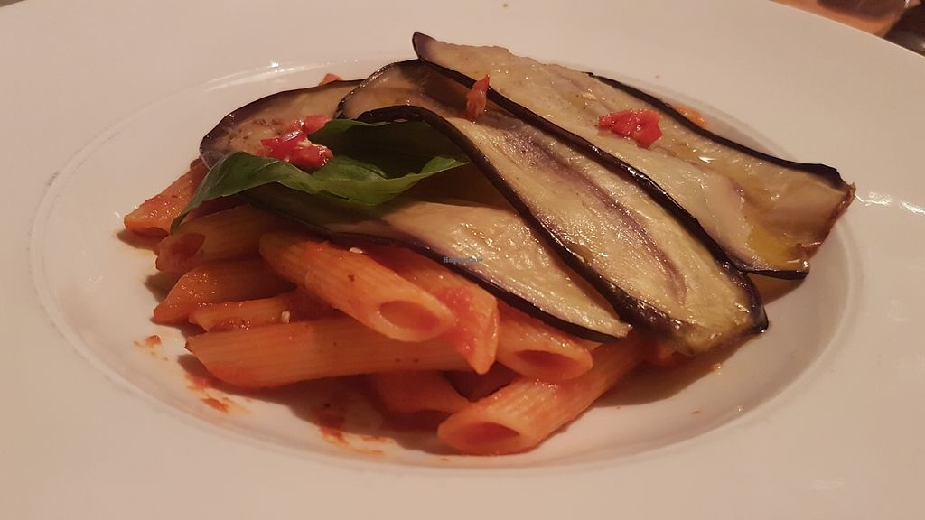 """Photo of Made in Sud  by <a href=""""/members/profile/liepy"""">liepy</a> <br/>Penne alla Norma with eggplant, tomatoes and fresh basil <br/> August 19, 2017  - <a href='/contact/abuse/image/92474/294542'>Report</a>"""