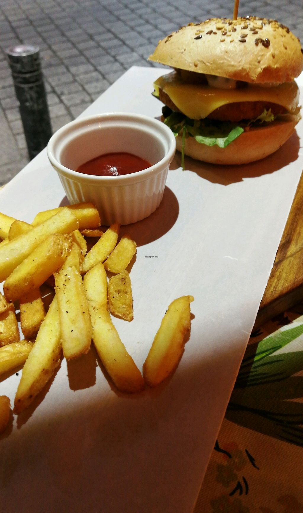 """Photo of CLOSED: Plant Grill  by <a href=""""/members/profile/LenaMarie"""">LenaMarie</a> <br/>no chik'n burger with extra smoked cheese <br/> September 24, 2017  - <a href='/contact/abuse/image/92475/307815'>Report</a>"""