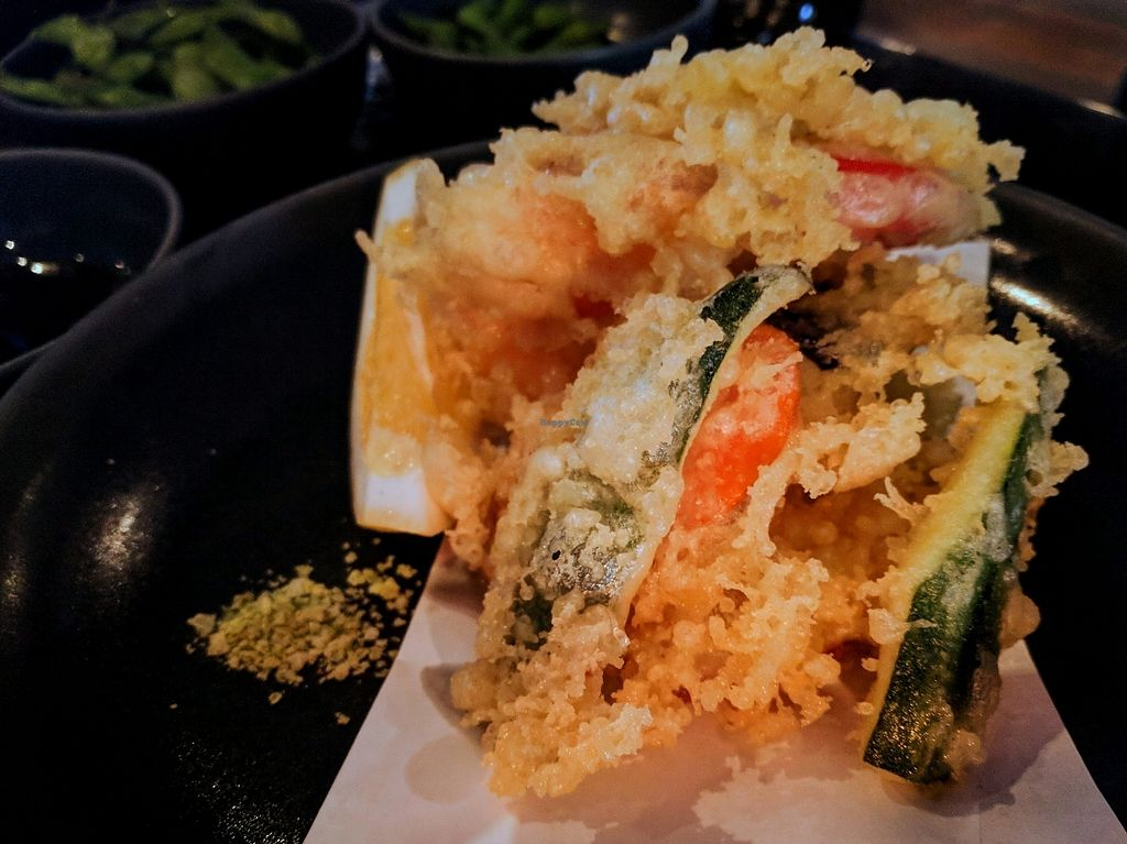 """Photo of Ebisu  by <a href=""""/members/profile/The%20Hungry%20Vegan"""">The Hungry Vegan</a> <br/>Vegan Set, Course 2 - Tempura Vegetables <br/> December 31, 2017  - <a href='/contact/abuse/image/92486/341451'>Report</a>"""