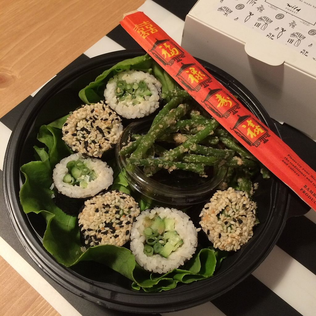 """Photo of Wild Forest  by <a href=""""/members/profile/becx.ray"""">becx.ray</a> <br/>Vegan Sushi with stir fry french beans <br/> October 1, 2017  - <a href='/contact/abuse/image/92492/310648'>Report</a>"""