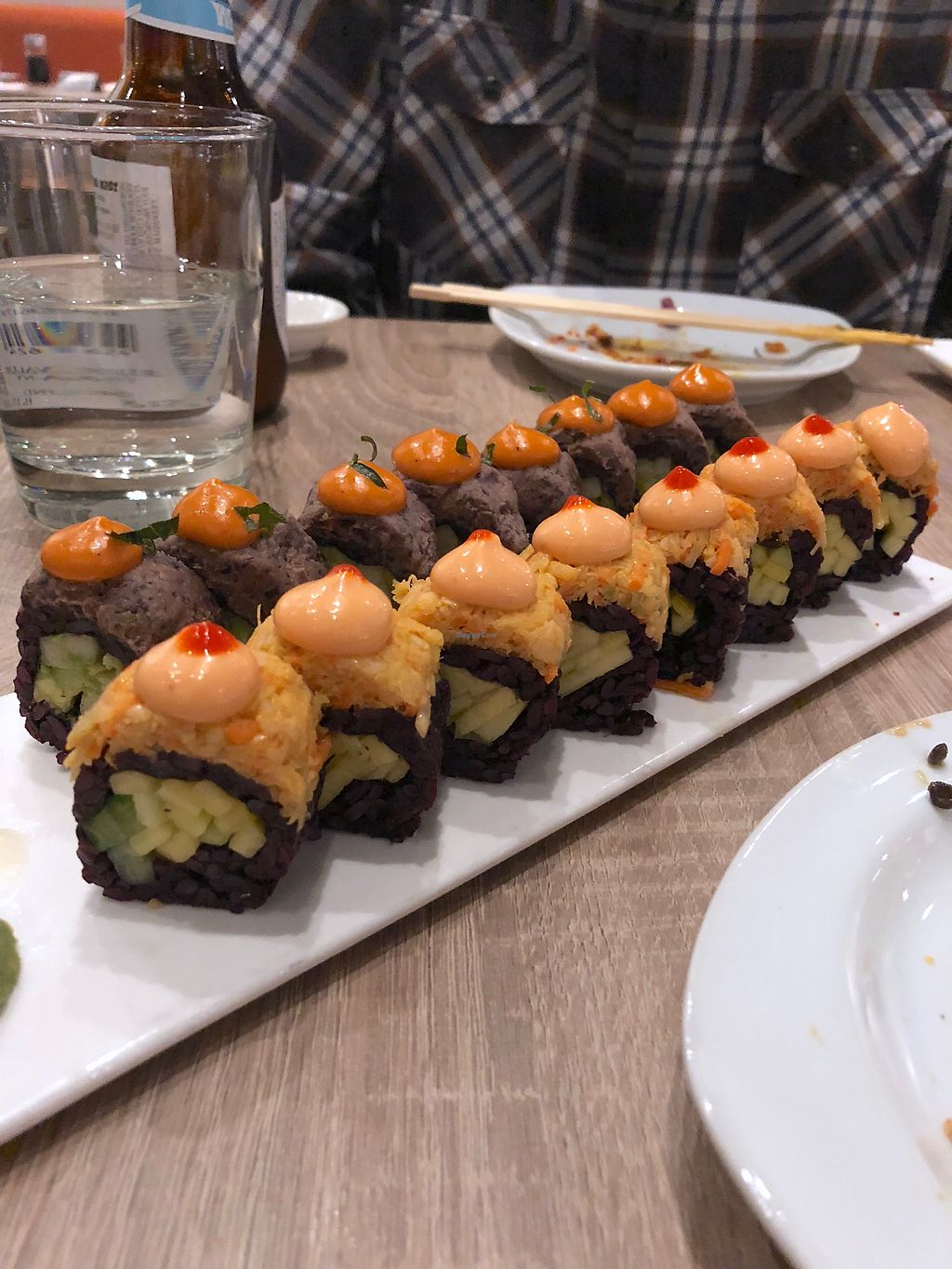 "Photo of Beyond Sushi - Herald Square  by <a href=""/members/profile/starling"">starling</a> <br/>Fiesta & Spicy Mango rolls <br/> March 18, 2018  - <a href='/contact/abuse/image/92497/372402'>Report</a>"
