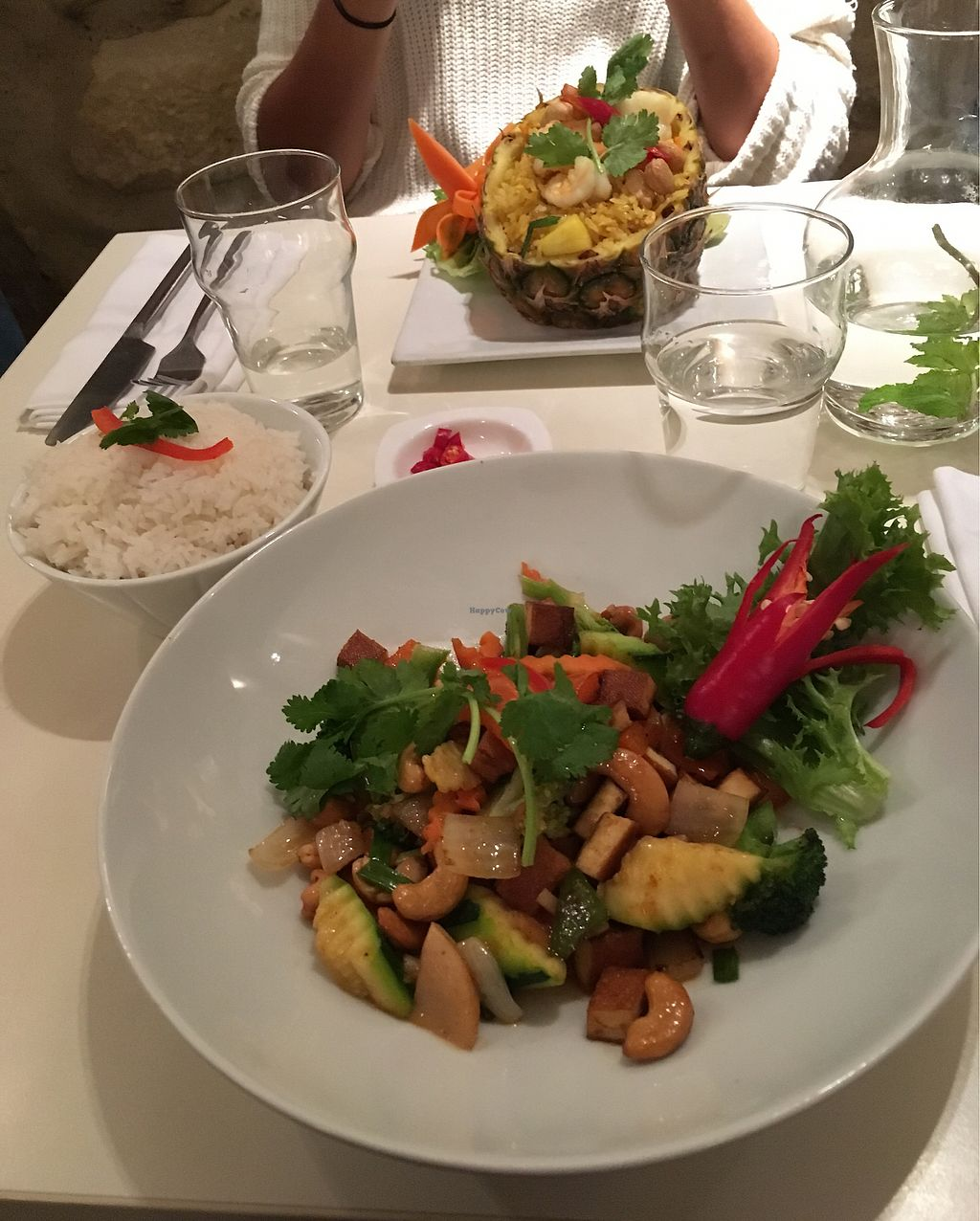 "Photo of Suan Thai  by <a href=""/members/profile/vegandancer96"">vegandancer96</a> <br/>vegetables with tofu and side of rice <br/> November 27, 2017  - <a href='/contact/abuse/image/92508/329874'>Report</a>"