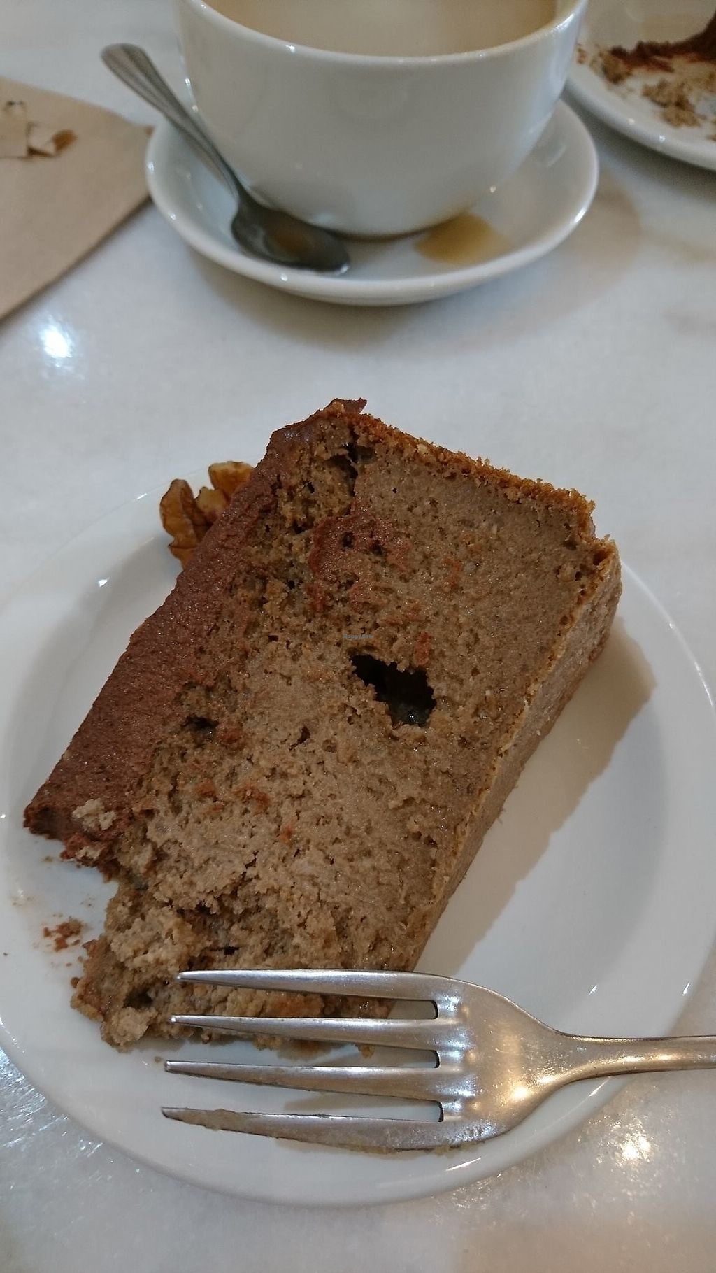 """Photo of Vinnie's Eatery  by <a href=""""/members/profile/Fay84Vegan"""">Fay84Vegan</a> <br/>Gone Off Mocha Cake from Vinnies in Cheltenham  <br/> February 22, 2018  - <a href='/contact/abuse/image/92537/362214'>Report</a>"""
