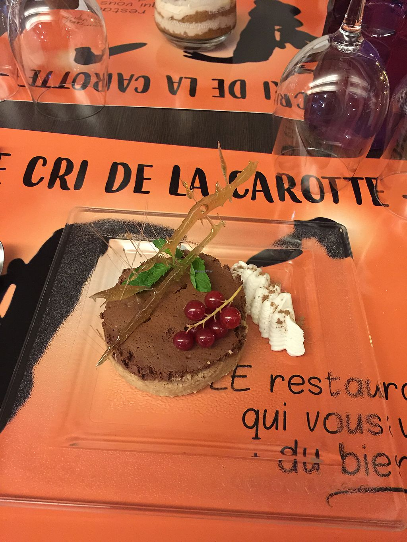 "Photo of CLOSED: Le Cri de la Carotte  by <a href=""/members/profile/Marie-Lucile"">Marie-Lucile</a> <br/>Terrible mousse au chocolat et son biscuit croustillant :) <br/> September 21, 2017  - <a href='/contact/abuse/image/92559/306865'>Report</a>"