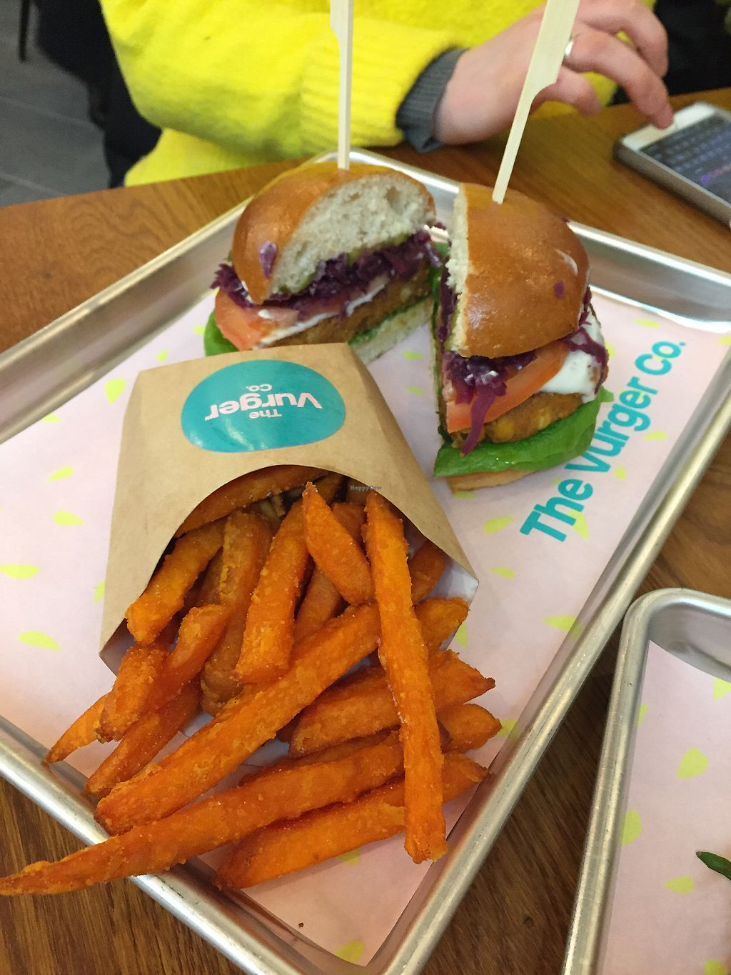 """Photo of The Vurger Co.  by <a href=""""/members/profile/koringal"""">koringal</a> <br/>Auburger + sweet potato fries <br/> March 23, 2018  - <a href='/contact/abuse/image/92574/374905'>Report</a>"""