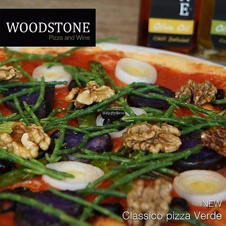 """Photo of Woodstone  by <a href=""""/members/profile/happyowl"""">happyowl</a> <br/>Vegan pizza """"Verde"""" <br/> July 16, 2017  - <a href='/contact/abuse/image/92576/281151'>Report</a>"""