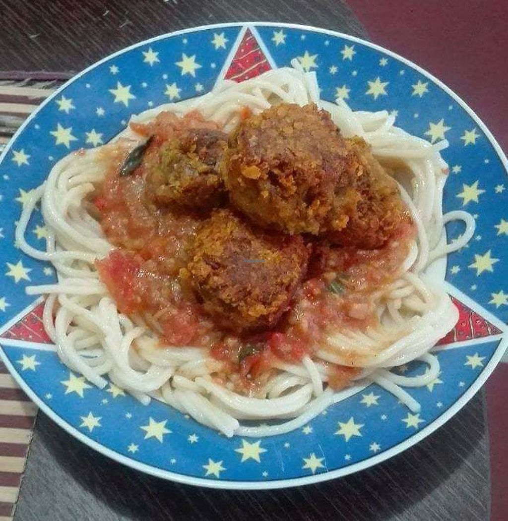 """Photo of Berencaté  by <a href=""""/members/profile/community5"""">community5</a> <br/>Noodles with homemade pasta and crispy meatballs <br/> May 22, 2017  - <a href='/contact/abuse/image/92582/261396'>Report</a>"""