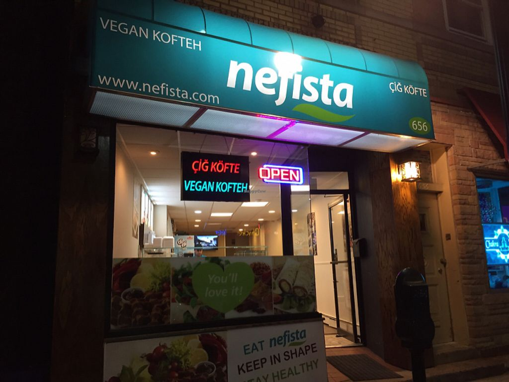 """Photo of Nefista Vegan Kofteh  by <a href=""""/members/profile/SavoyTruffle"""">SavoyTruffle</a> <br/>exterior <br/> May 22, 2017  - <a href='/contact/abuse/image/92592/261328'>Report</a>"""
