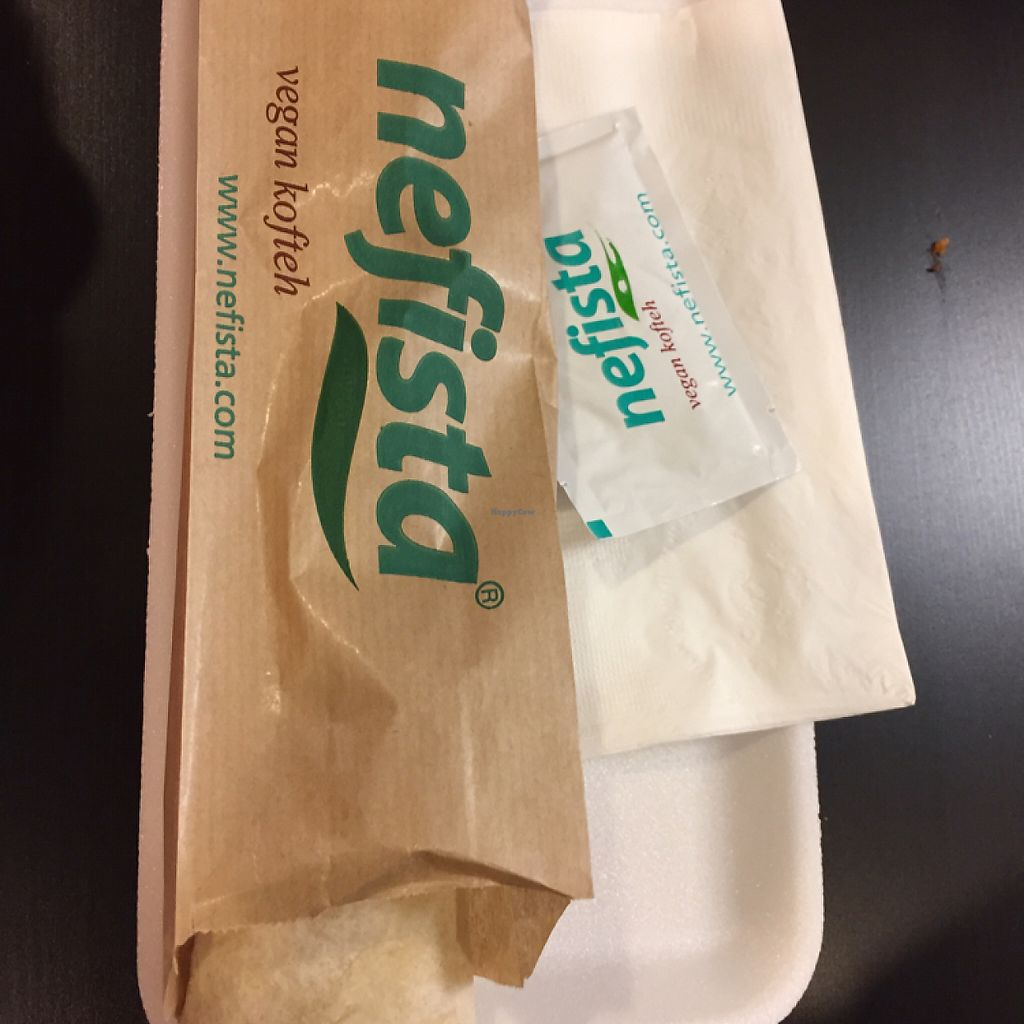 """Photo of Nefista Vegan Kofteh  by <a href=""""/members/profile/SavoyTruffle"""">SavoyTruffle</a> <br/>wrap sandwich <br/> May 22, 2017  - <a href='/contact/abuse/image/92592/261332'>Report</a>"""