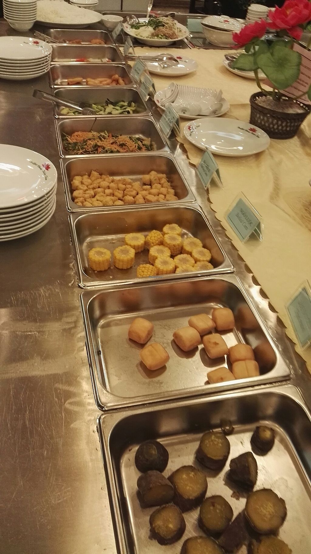 """Photo of Nha Hang Buffet Chay Thien Tam  by <a href=""""/members/profile/Valerius"""">Valerius</a> <br/>small part of the large buffet <br/> July 12, 2017  - <a href='/contact/abuse/image/92602/279454'>Report</a>"""